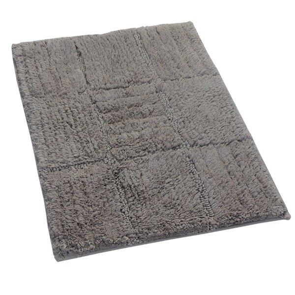 Nathen 100% Cotton Chakkar Board Spray Latex Back Bath Rug by The Twillery Co.